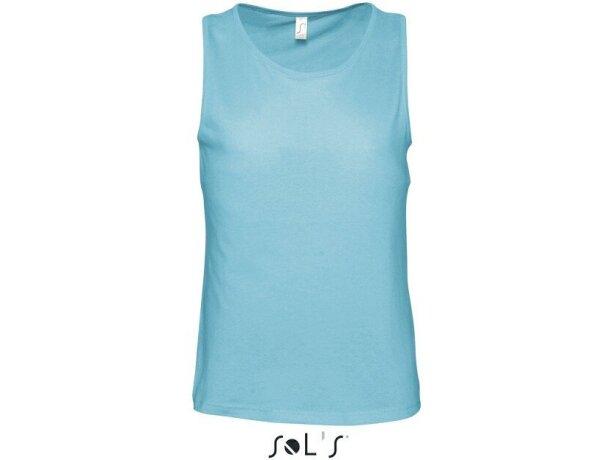 Camiseta de tirantes unisex en colores Sols azul claro