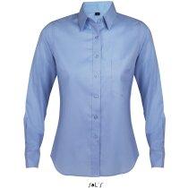 Camisa manga larga de mujer de trabajo Sols azul claro