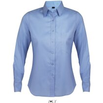 Camisa manga larga de mujer de trabajo Sols personalizada azul claro