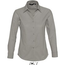Camisa de mujer estilo oxford Sols gris