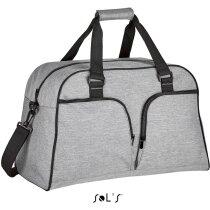 Bolsa de viaje casual con varios bolsillos Sols personalizada gris