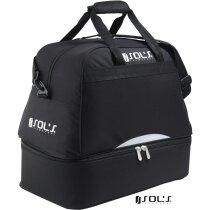 Bolsa de deporte con zapatillero de cremallera doble Sols personalizada negra