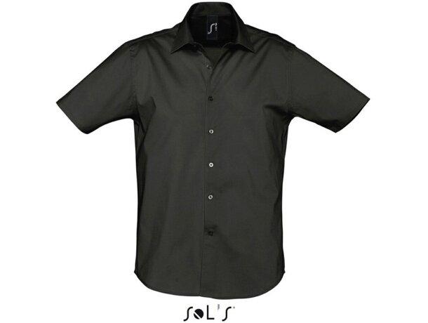Camisa de hombre de trabajo en colores Sols negra