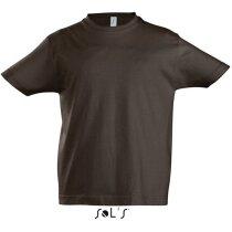 Camiseta de hombre manga corta colores Sols marron