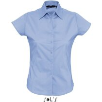 Camisa de mujer manga corta elastan Sols