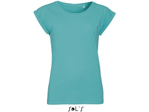 Camiseta entallada de mujer cuello redondo Sols personalizada