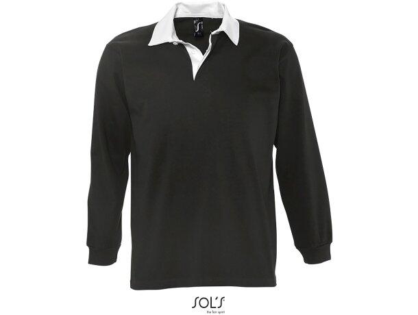 Polo de rugby en manga larga colores lisos sols barato
