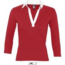 Polo de mujer con manga 3$ de rugby Sols personalizado