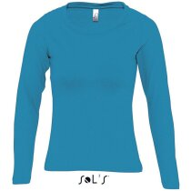 Camiseta de mujer manga larga Majestic de Sols 150 gr Sols azul claro