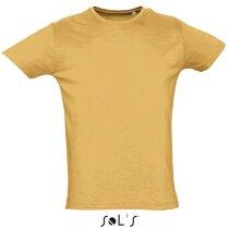 Camiseta hombre manga corta First Sols naranja claro