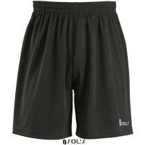 Pantalón corto deportivo con calzoncillo interior Sols negro