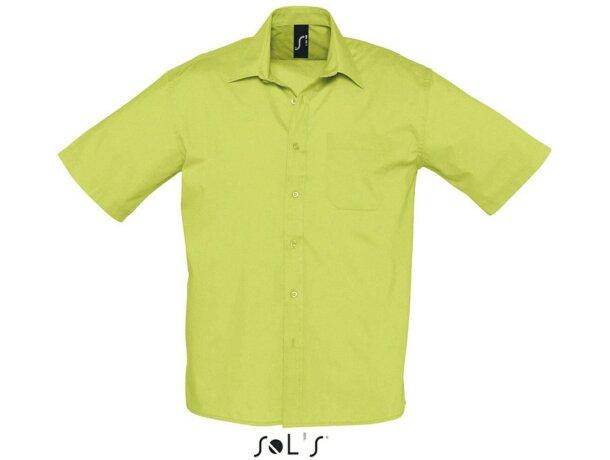 Camisa de hombre de trabajo manga corta en colores Sols verde manzana