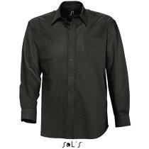 Camisa de hombre estilo Oxford Sols negra