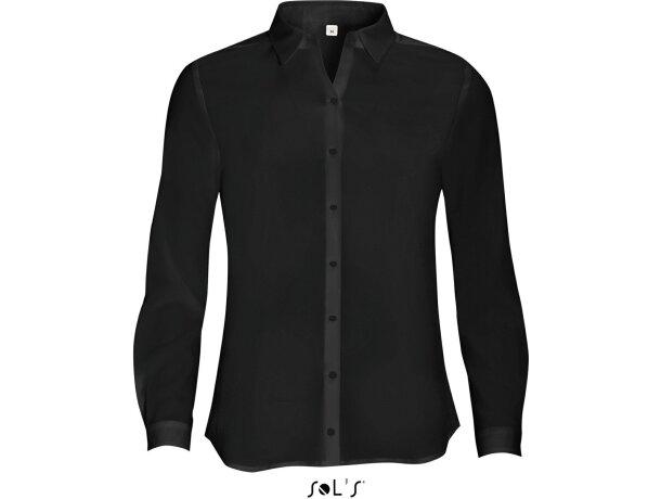 Camisa de mujer entallada Sols negra