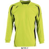 Camiseta unisex de portero 135 gr Sols grabada verde manzana y negro