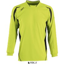 Camiseta unisex de portero 135 gr Sols grabada verde manzana/negro