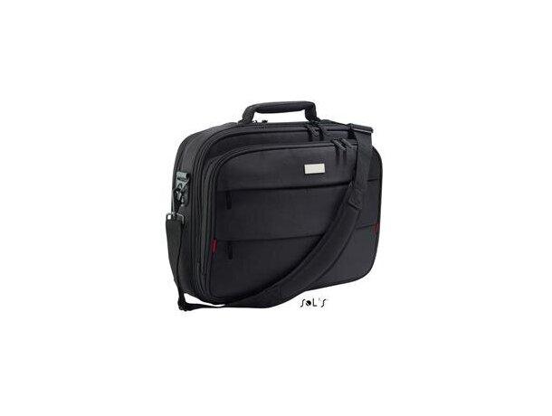 Bolsa maletín para ordenador en poliester Sols