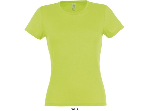 Camiseta de mujer manga corta Sols verde manzana