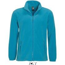 Chaqueta polar cremallera y bolsillos Sols personalizada azul claro