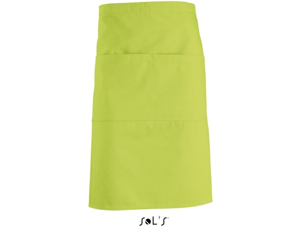 delantal medio de tejido mixto Sols personalizado verde manzana