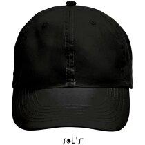 Gorra fabricada en poliester de colores Sols negra