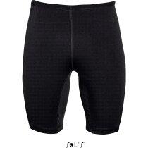 Pantalón corto deportivo unisex con cordón Sols personalizado negro