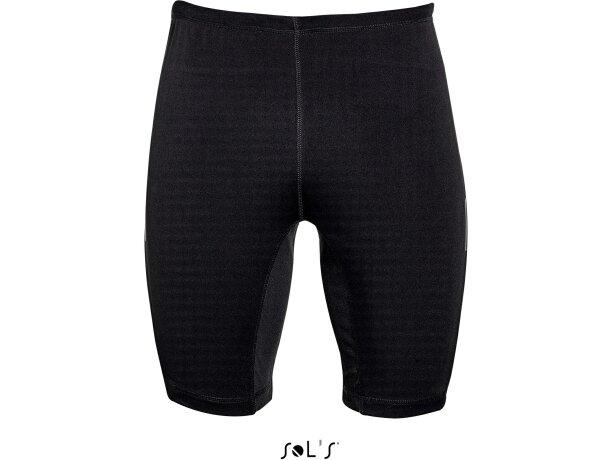 Pantalón corto deportivo unisex con cordón Sols negro