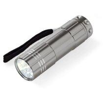Linterna de 9 leds con funda personalizada gun metal