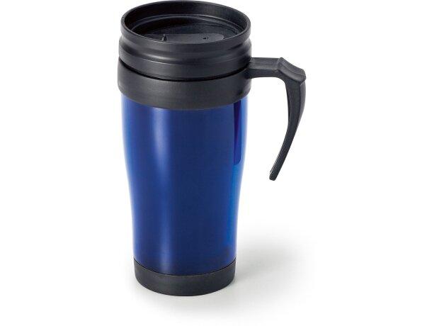 Taza de viaje térmica azul