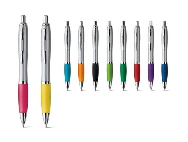 Bolígrafo con puntera de color