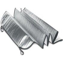 Parasol de coche forrado con hoja de aluminio personalizado gris claro