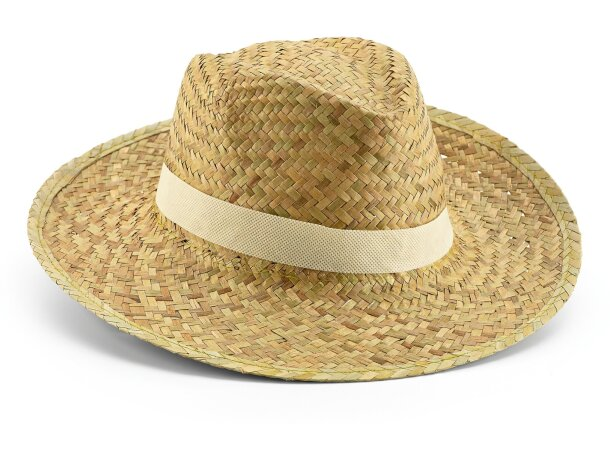 Sombrero de paja talla única personalizado natural
