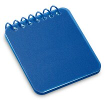 Mini libreta con tapas rígidas de colores grabada azul