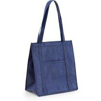 Bolsa nevera con cierre de velcro personalizada azul
