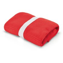 Manta polar roja personalizada roja