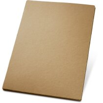 Carpeta de cartón con bolsillo interior personalizada natural