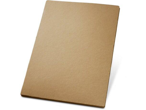 Carpeta de cartón con bolsillo interior natural barata