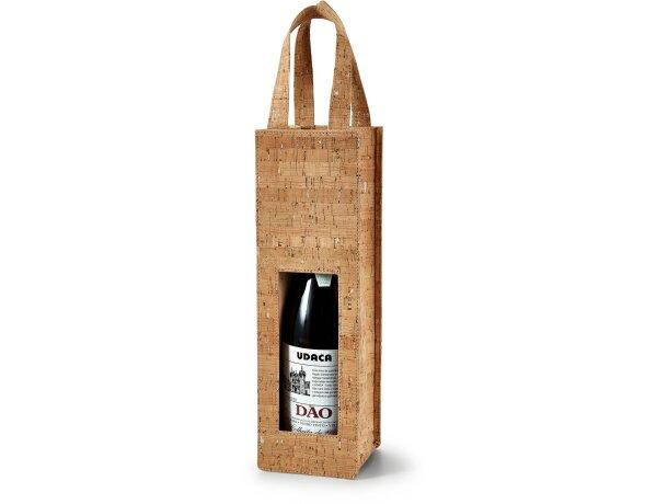 Bolsa de corcho para 1 botella natural