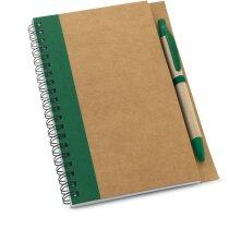 Bloc para notas en papel craft personalizada verde