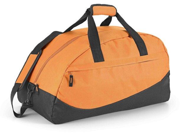 Bolsa de deporte con base semirrígida naranja con logo