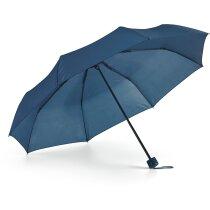 Paraguas de colores en funda plegable con logo azul