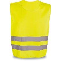 Chaleco en poliester de alta visibilidad personalizado amarillo
