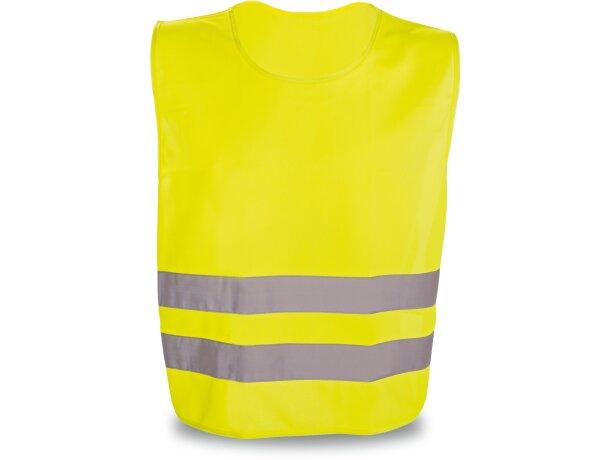 Chaleco en poliester de alta visibilidad barato amarillo