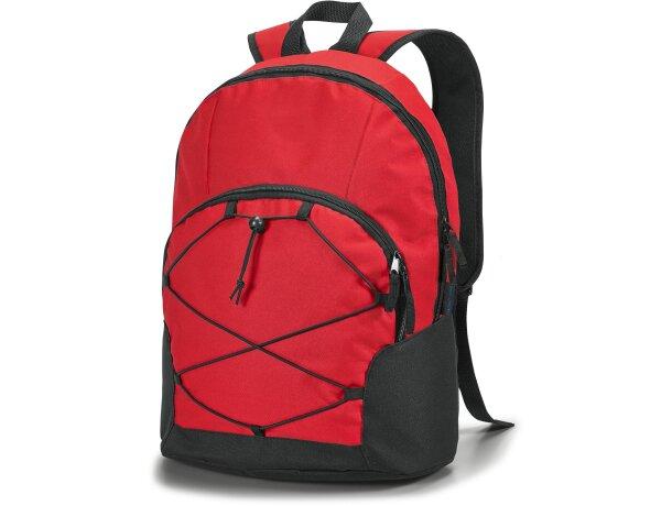 Mochila con espacio para ordenador personalizada roja