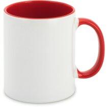 Mug con interior a color personalizada roja