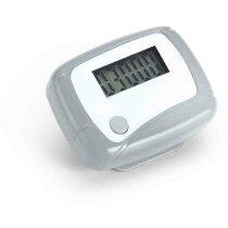 Podómetro para deportistas con logo cromado satinado