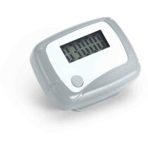 Podómetro para deportistas personalizado cromado satinado