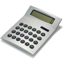 Calculadora básica de 8 dígitos cromado satinado personalizada