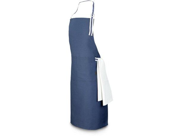 delantal ajustable y bonito con bolsillos azul