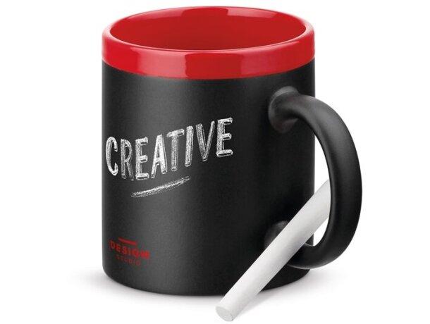 Taza pizarra en cerámica rojo personalizadas